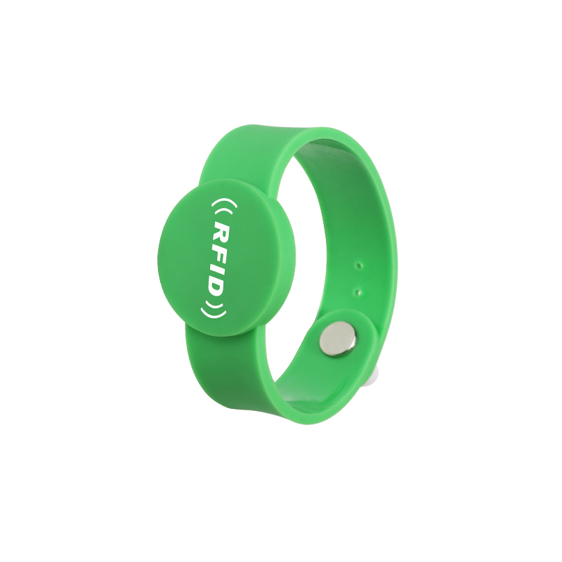 PVC03 RFID PVC Anti Tamper Wristband Adjustable Smartband for Children with Disposable Button
