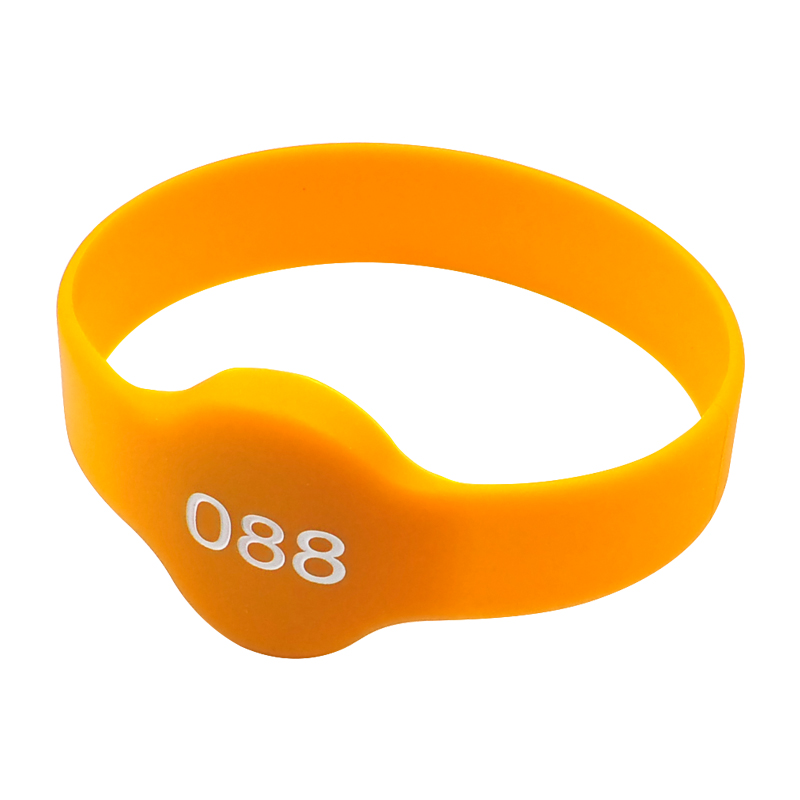GJ11 RFID Silicone Waterproof Wristband with NFC Chip Round Bracelet