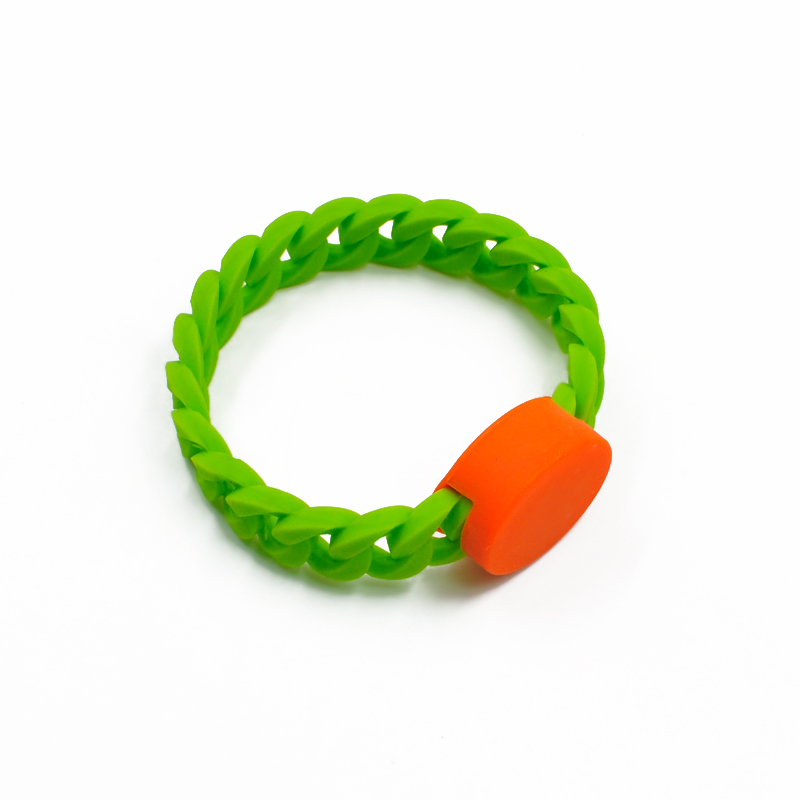 GJ09 RFID Twist Silicone Wristband Waterproof Rubber Wristbands
