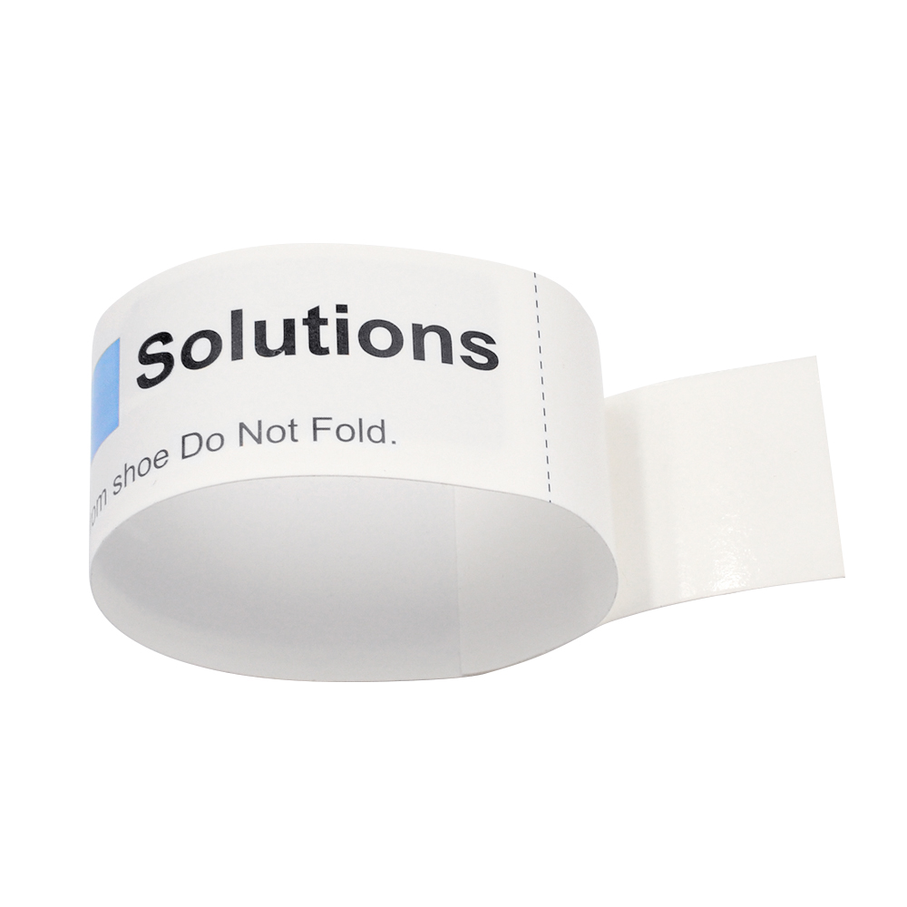 TK04 RFID NFC Sport Paper Wristband Disposable Thermal Paper Bracelets