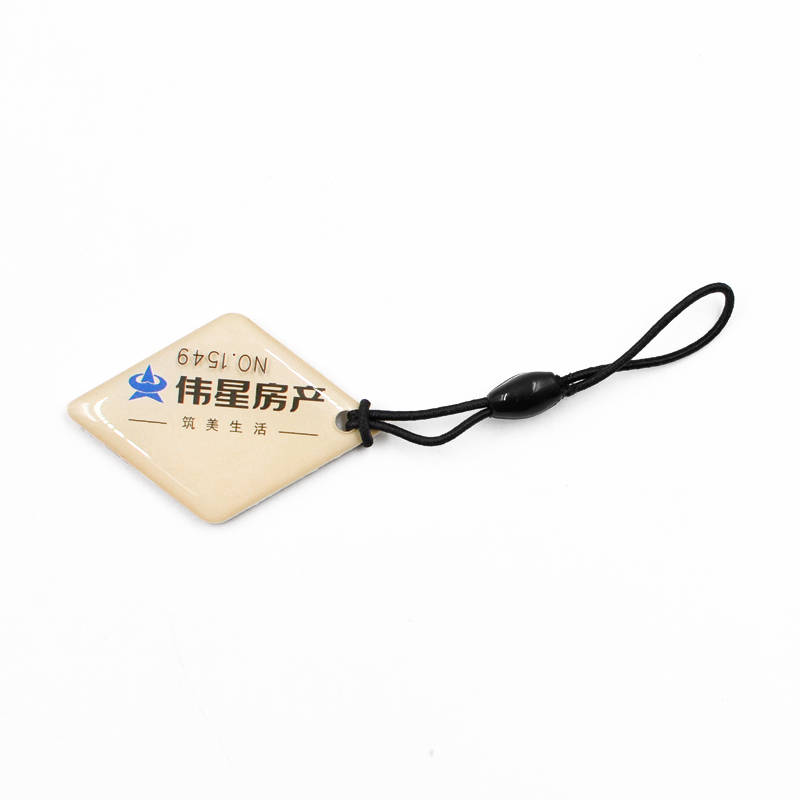 DJ14 RFID Epoxy Key fob Waterproof NFC key chain Crystal key holder