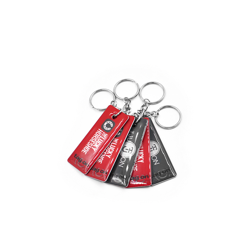 DJ16 RFID Epoxy Key fob Waterproof NFC key chain Crystal key holder