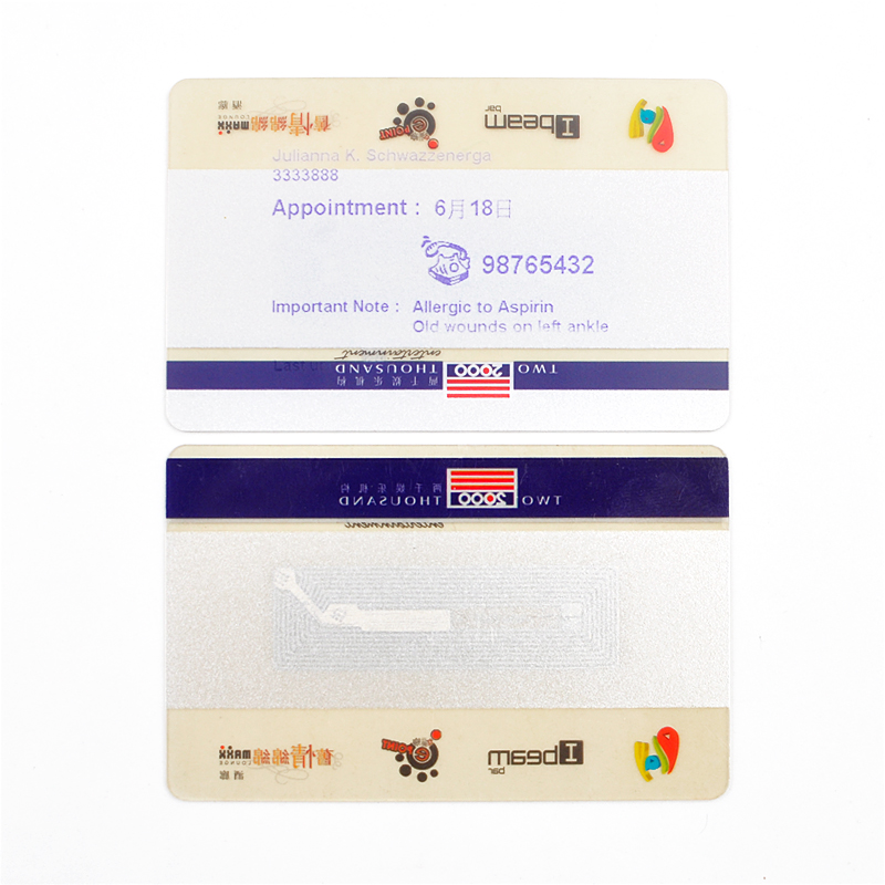 RFID PVC Transparent Card  NFC Blank Smart Card Printed Card