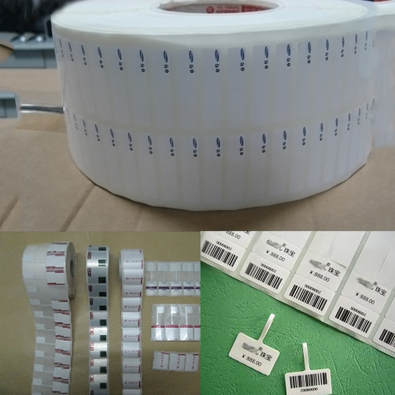 RFID UHF Jewelry Label Glasses Tags for Asset Management  Shoes Hats Price Label