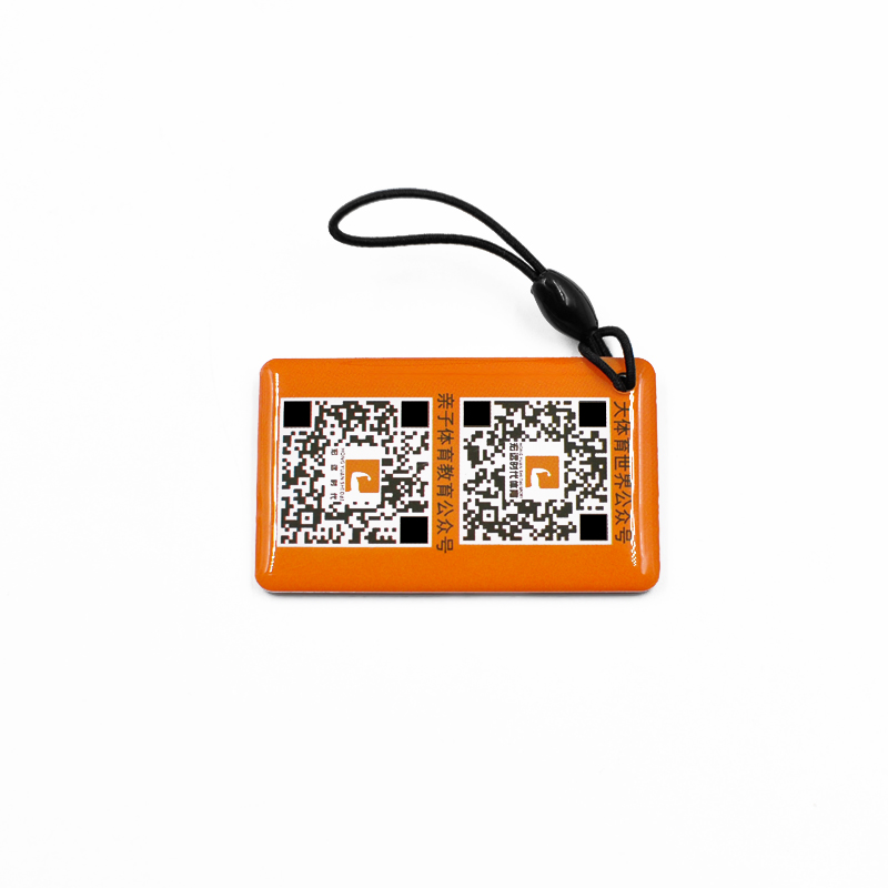 RFID TK4100 Crystal Epoxy Key fob NFC Card Waterproof key chain key holder for Access control,Payment
